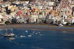 Playa de los Cristianos, Tenerife Fotografia Stock