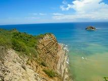 Playa de los Frailes в эквадоре Стоковые Фото