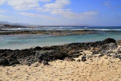 Playa de Los Lagos - El Cotillo, Fuerteventura, Canary Islands,. Spain royalty free stock images