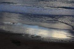Playa de los locos, Suances,桑坦德 坎塔布里亚 免版税库存照片