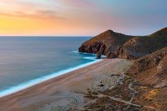 Playa de los muertos. Coast stock photos