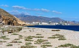 Playa de Los Muertos spanien stockbilder