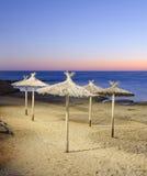 Playa de los paraguas Imagenes de archivo