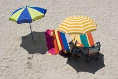 Playa de los paraguas Fotos de archivo