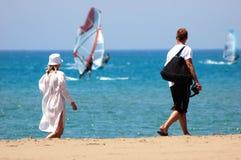 Playa de los pares Foto de archivo libre de regalías