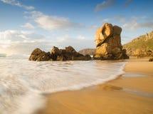 Playa de Lumeboo en Galicia, España imágenes de archivo libres de regalías