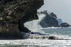 Playa de Madasari Fotos de archivo