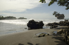 Playa de Madasari Imagen de archivo