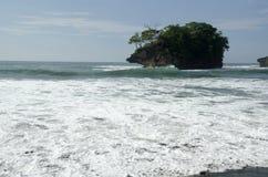 Playa de Madasari Imágenes de archivo libres de regalías