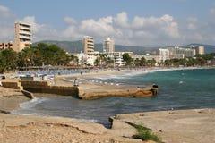 Playa de Magalluf. Imágenes de archivo libres de regalías