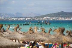 Playa de Majorca Fotografía de archivo libre de regalías