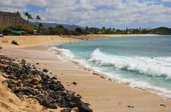 Playa de Makaha foto de archivo