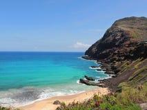 Playa de Makapu'u imagenes de archivo