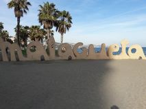 Playa de Malagueta royaltyfria bilder