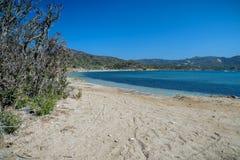Playa de Malfatano en Cerdeña del sur Imagen de archivo