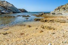 Playa de Malfatano en Cerdeña del sur Imágenes de archivo libres de regalías