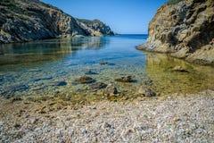 Playa de Malfatano en Cerdeña del sur Fotos de archivo