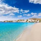 Playa de Mallorca Cala Santa Ponsa Ponca en Majorca Fotos de archivo libres de regalías