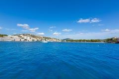 Playa de Mallorca Cala Santa Ponsa Ponca en Majorca Imágenes de archivo libres de regalías