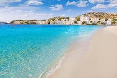 Playa de Mallorca Cala Santa Ponsa Ponca en Majorca Fotografía de archivo