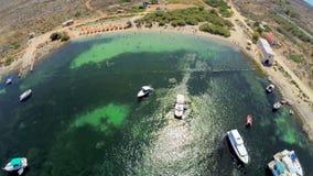 Playa de Malta Silueta del hombre de negocios Cowering