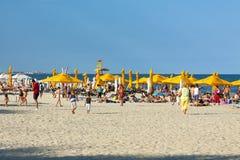 Playa de Mamaia, Rumania Imágenes de archivo libres de regalías