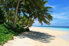 Playa de Manase en Samoa, isla de i de Savai 'en South Pacific imágenes de archivo libres de regalías