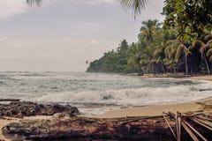 Playa de Manzanillo Foto de archivo libre de regalías