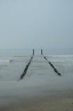 Playa de Mar del Norte los Países Bajos Fotografía de archivo