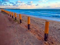 Playa de Maracaipe en la puesta del sol Imagen de archivo