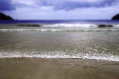 Playa de Maracas en el foco selectivo de Trinidad and Tobago Fotos de archivo libres de regalías