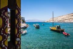 Playa de Matala Fotos de archivo libres de regalías