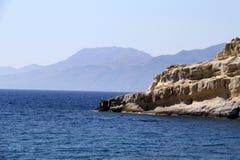 Playa de Matala en Crete imágenes de archivo libres de regalías