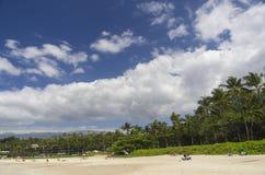 Playa de Mauna Kea, isla grande, Hawaii Imagen de archivo libre de regalías