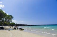 Playa de Mauna Kea, isla grande, Hawaii Fotografía de archivo