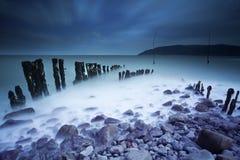 Playa de medianoche Foto de archivo
