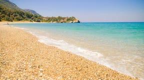 Playa de Megalo Seitani del paraíso, Samos, Grecia Fotos de archivo