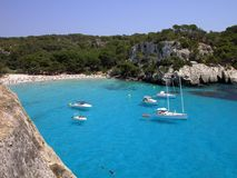 Playa de Menorca - Macarella Imagenes de archivo