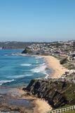 Playa de Merewether - Newcastle Australia Imágenes de archivo libres de regalías