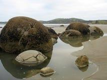 Playa de Moearaki Imágenes de archivo libres de regalías