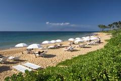 Playa de Mokapu, orilla del sur de Maui, Hawaii Foto de archivo libre de regalías