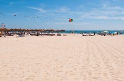 Playa de Montegordo Imagen de archivo libre de regalías