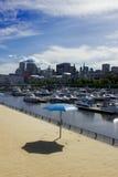 Playa de Montreal Clocktower Foto de archivo libre de regalías