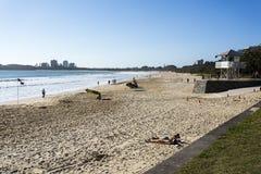 Playa de Mooloolaba Foto de archivo libre de regalías