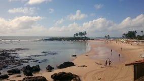 Playa de Morro de Sao Paulo almacen de metraje de vídeo