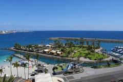 Playa de Mst del fel de Anfi, isla de Gran Canaria, España fotografía de archivo