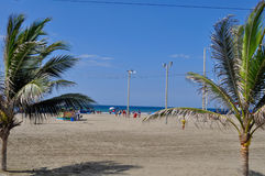Playa de Murcielago, Manta, Ecuador Fotos de archivo libres de regalías