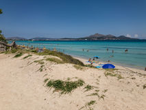 Playa de Muro, sandy Muro beach, summer time, Mallorca, Spain Stock Photo