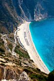Playa de Myrtos Imagenes de archivo