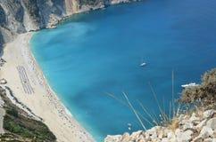 Playa de Myrtos Imágenes de archivo libres de regalías